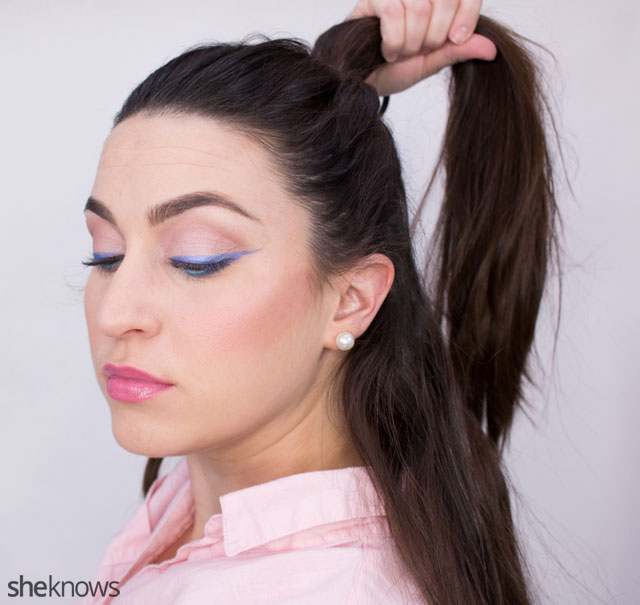 The ponytail hairstyle trick