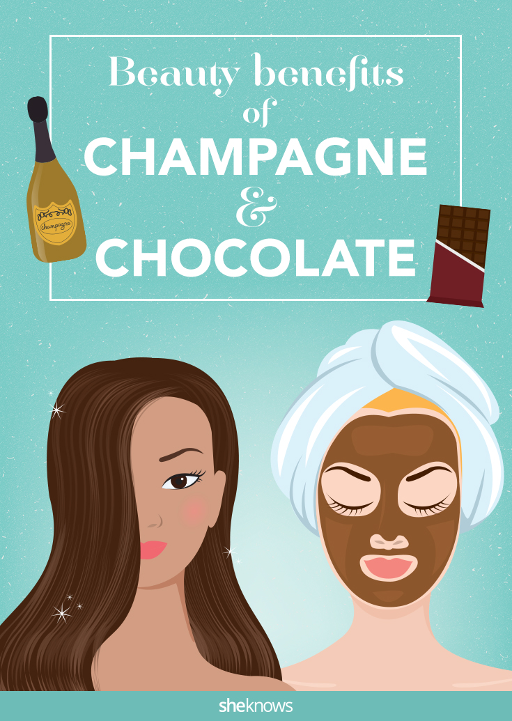 champagne and chocolate beauty