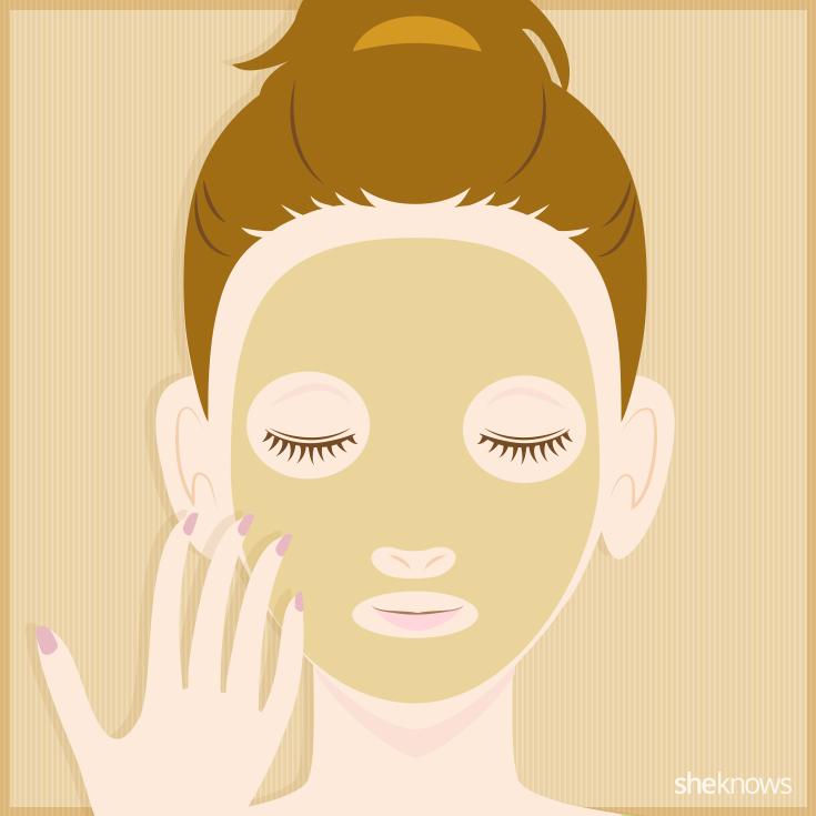 Banana face mask step three