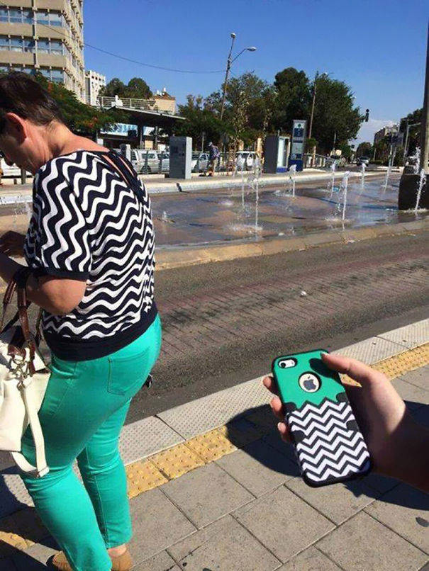 outfits that perfectly blend into their surroundings