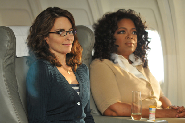Tina Fey and Oprah fly the 30 Rock skies