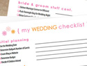 6 Wedding checklists and other printables to help you plan