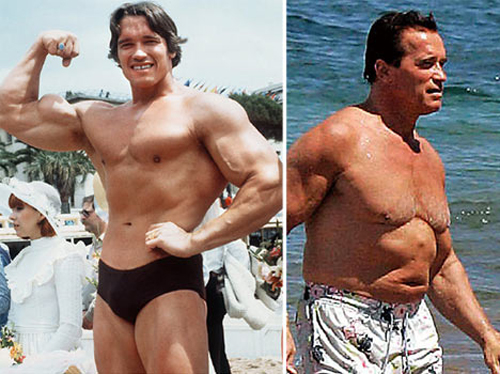 early arnold schwarzenegger photos. Early appearances in George of