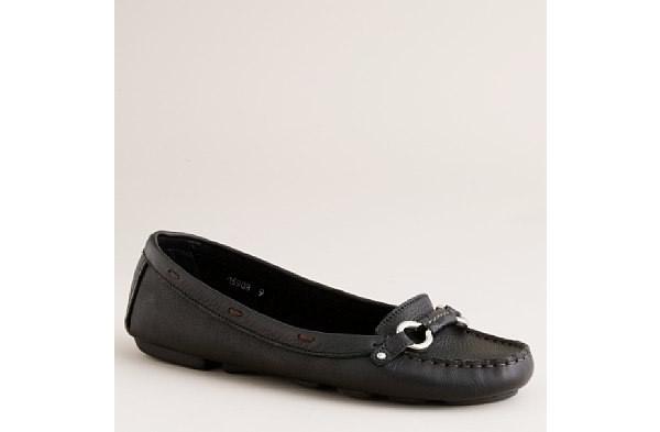 basic black flat shoe