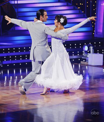 Gilles and Cheryl do the waltz