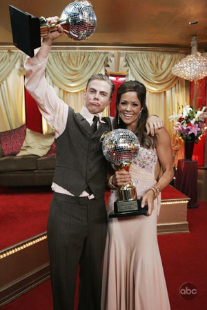 Your winners: Brooke Burke and Derek Hough
