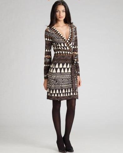Diane Von Furstenburg printed wrap dress