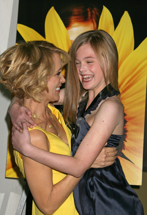 Felicity Huffman and Elle Fanning share a moment