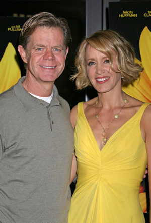 William H Macy and Felicity Huffman at the Phoebe premiere