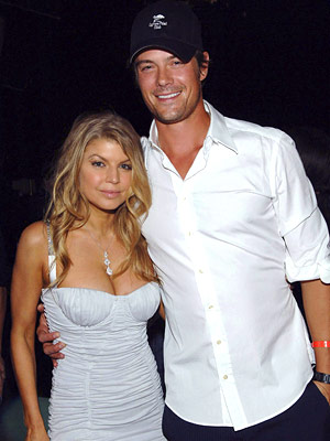 The happy couple, Fergie and Josh