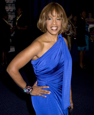 Gayle King at the NBA All-Star game festivities