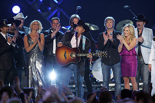 George Strait and friends including Faith Hill