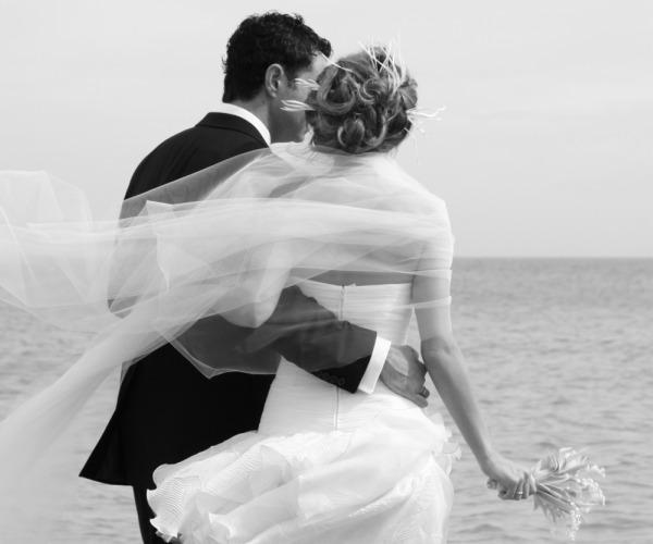 Couple at destination wedding