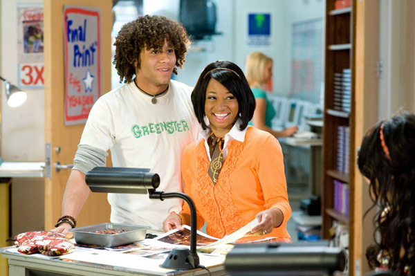 Corbin and Monique in High School Musical 3 are ready to graduate