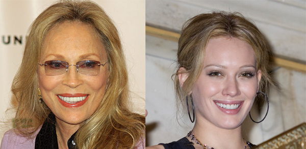 Faye Dunaway and Hilary Duff are fighting