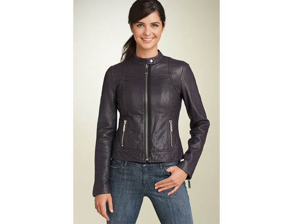 scuba front leather jacket