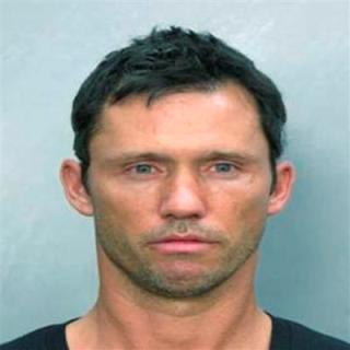 Jeffrey Donovan's mug shot, courtesy of Miami Police