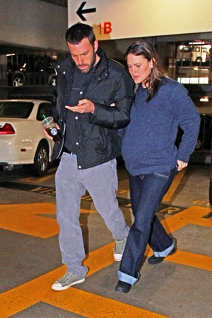 Jennifer Garner and Ben Affleck on their way