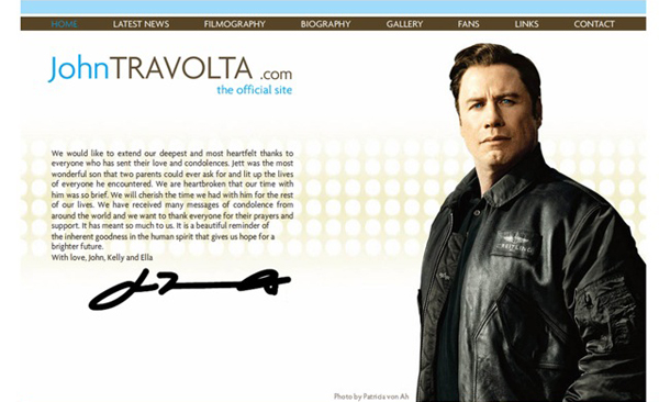 John Travolta's official website