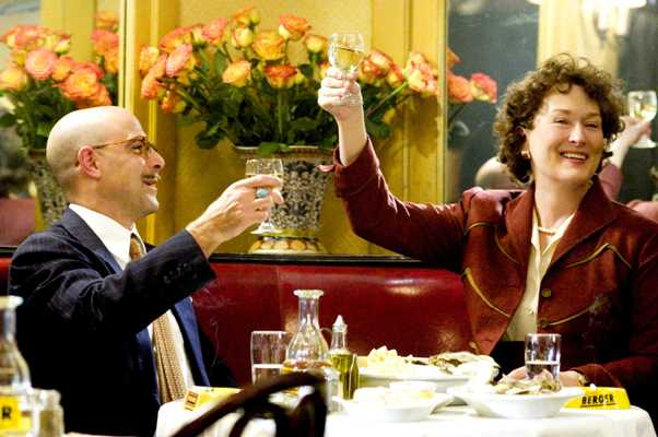 Streep and Tucci toast their success in Julie and Julia