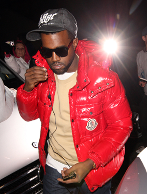 Kanye in England prior to his arrest