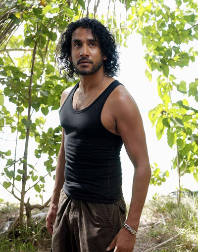 Sayid, ever serious on Lost