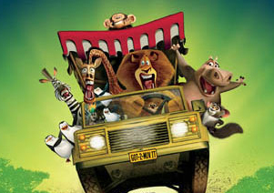 going for a ride with the cast of Madagascar 2