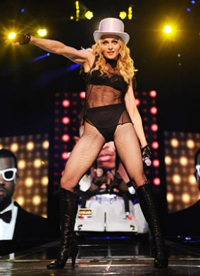 Madonna out on her Sticky and Sweet tour