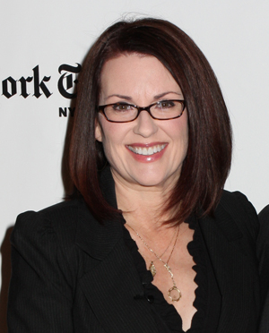 Megan Mullally has many reasons to smile