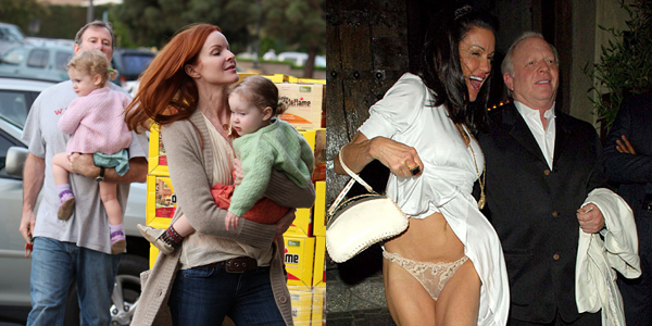 Stars like Marcia Cross with her twins versus Janice Dickinson