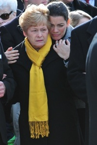Nancy Kerrigan at her dad's funeral