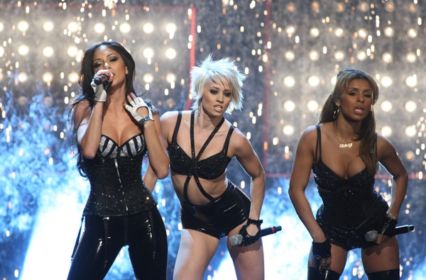 Nicole and her Pussycat Dolls open for Britney Spears