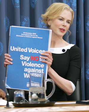 Nicole works as a good will ambassador for the UN