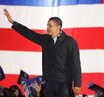 Obama late last night in Virginia, a state he won