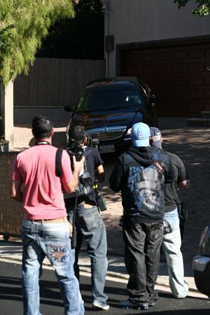 The scene outside Paula Abdul's home Nov. 12