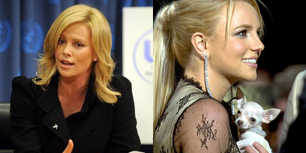 Charlize Theron recently announced UN ambassador...do we see Britney's dog anymore?