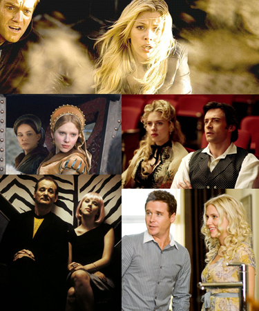 Clockwise: The Island, The Prestige, He's Just Not That Into You, Lost in Translation, The Other Boleyn Girl