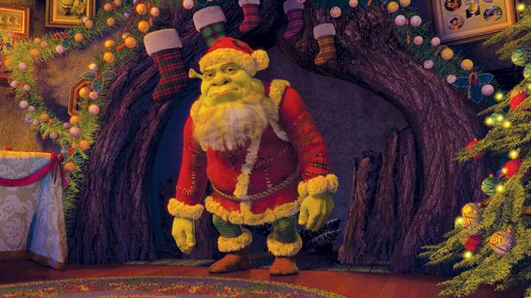 Shrek as Santa