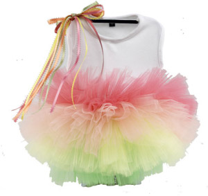 Sweet sorbet dog tutu dress
