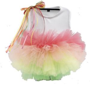 Sweet sorbet dog tutu dress
