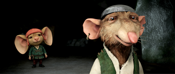 Broderick and Hoffman in The Tale of Despereaux
