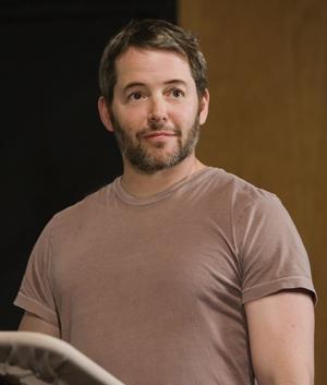 Matthew Broderick in the studio recording Despereaux