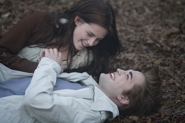 The lovebirds share a laugh in Twilight