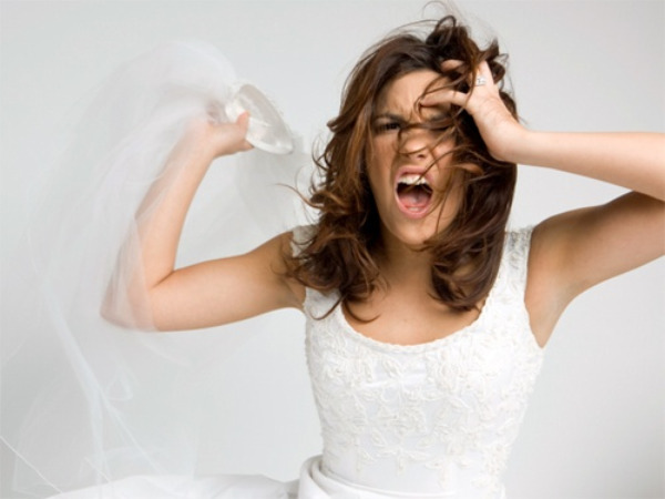 Unhappy bride