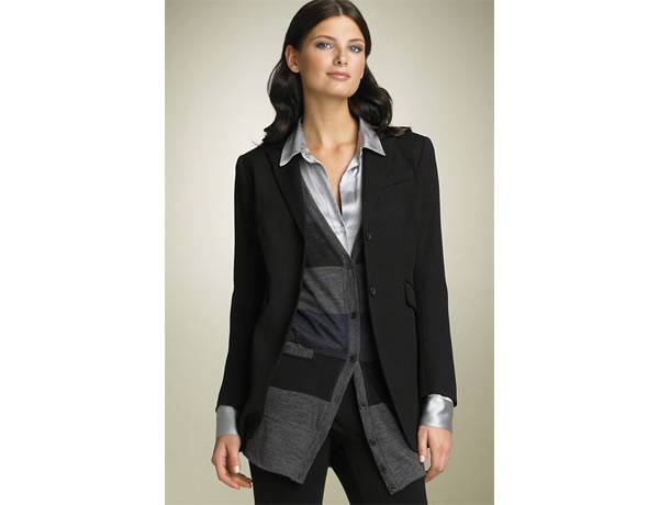 working mom wearing blazer