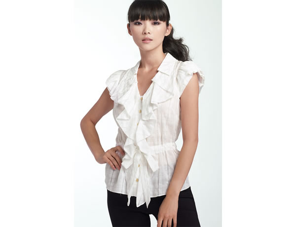 working mother wearing white blouse