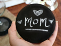 A handmade craft for Mother's Day:  DIY chalkboard coasters