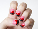 A simple red and pink nail design you can rock for the month of love