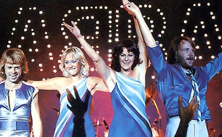 ABBA joins rocks elite when they are inducted into the Rock n' Roll Hall of Fame