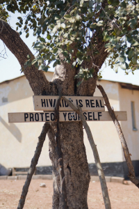 Aids sign in Africa